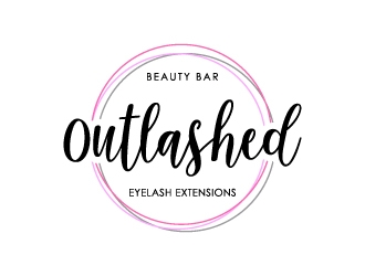 Outlashed Beauty Bar logo design concepts #5