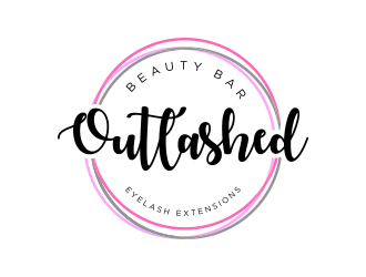 Outlashed Beauty Bar logo design concepts #6
