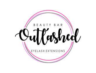 Outlashed Beauty Bar logo design concepts #8