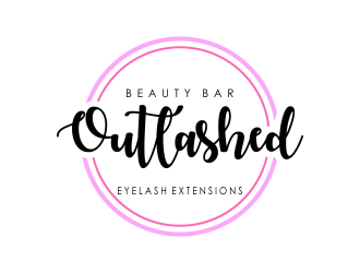 Outlashed Beauty Bar logo design concepts #9