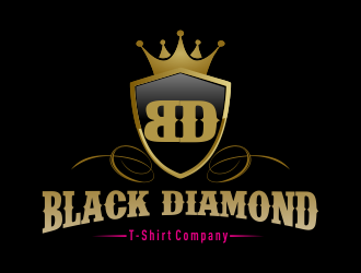 Black Diamond T-Shirt Company logo design concepts #2