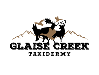 Glaise Creek Taxidermy logo design concepts #4