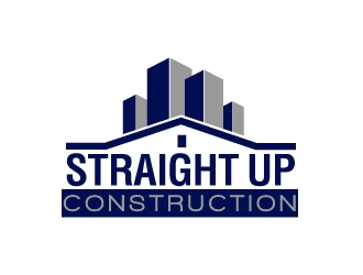 Straight Up Construction logo design concepts #5