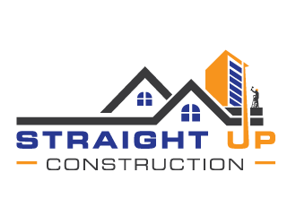 Straight Up Construction logo design concepts #8