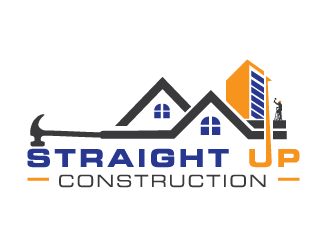 Straight Up Construction logo design concepts #9