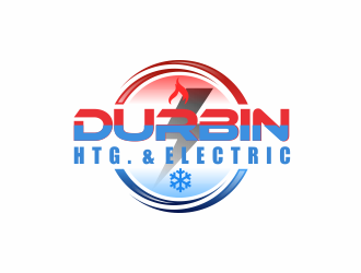 Durbin Htg. & Electric logo design concepts #1