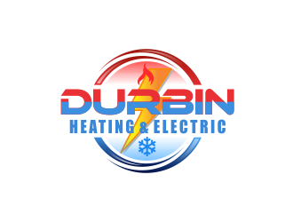 Durbin Htg. & Electric logo design concepts #4