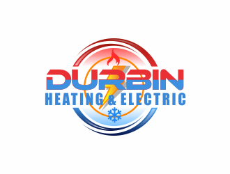 Durbin Htg. & Electric logo design concepts #7