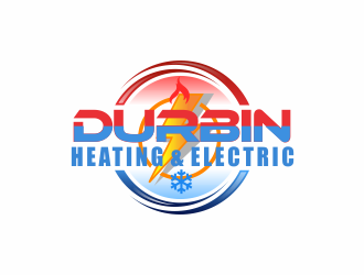 Durbin Htg. & Electric logo design concepts #9