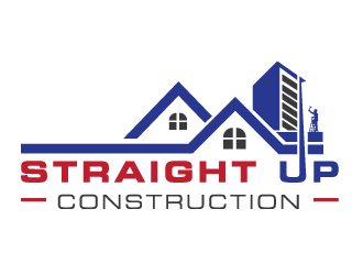 Straight Up Construction logo design concepts #3