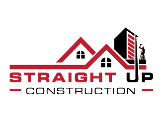 Straight Up Construction logo design concepts #4