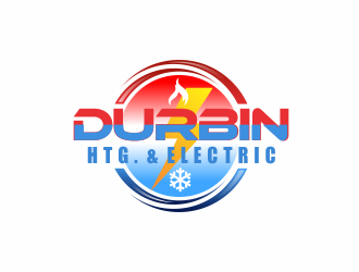 Durbin Htg. & Electric logo design concepts #10