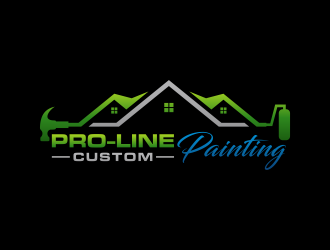 Pro-Line Custom Painting logo design concepts #4