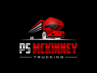 PS MCKINNEY Trucking logo design concepts #2