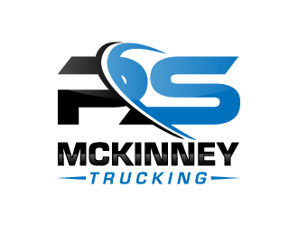 PS MCKINNEY Trucking logo design concepts #3
