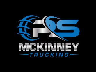 PS MCKINNEY Trucking logo design concepts #5
