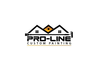 Pro-Line Custom Painting logo design concepts #5