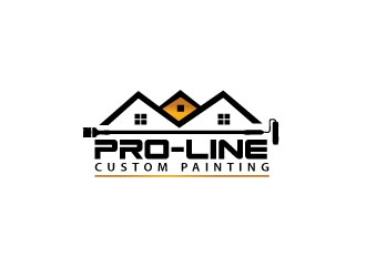 Pro-Line Custom Painting logo design concepts #6