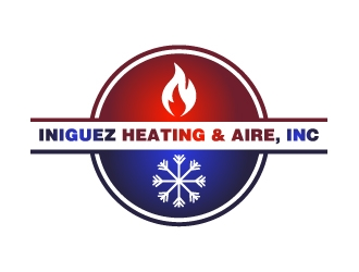 Iniguez Heating & Aire, Inc. logo design concepts #3