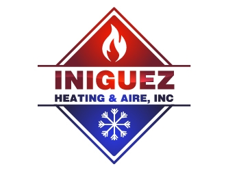 Iniguez Heating & Aire, Inc. logo design concepts #4