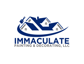 Immaculate Painting & Decorating, LLC logo design