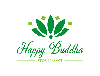 Happy Buddha Storefront logo design concepts #4