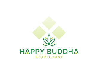 Happy Buddha Storefront logo design concepts #8