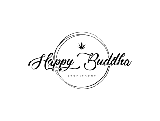Happy Buddha Storefront logo design concepts #9