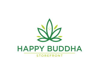 Happy Buddha Storefront logo design concepts #10