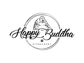 Happy Buddha Storefront logo design