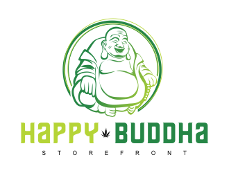 Happy Buddha Storefront logo design concepts #13