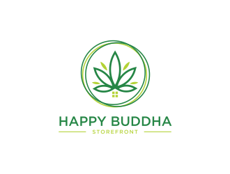 Happy Buddha Storefront logo design concepts #14