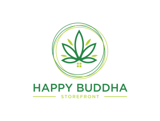 Happy Buddha Storefront logo design concepts #15