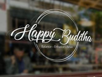 Happy Buddha Storefront logo design concepts #5