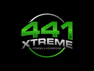 441 Xtreme Fitness & Kickboxing  logo design concepts #1