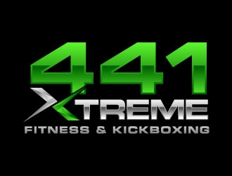 441 Xtreme Fitness & Kickboxing  logo design concepts #3