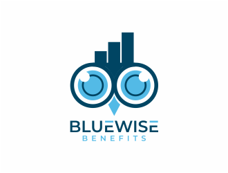 Bluewise Benefits logo design concepts #8