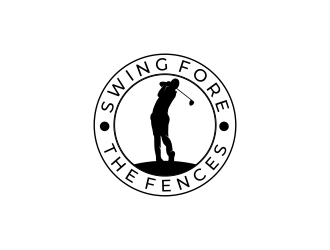 Swing Fore the Fences logo design concepts #1