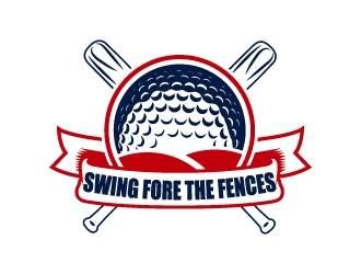 Swing Fore the Fences logo design concepts #6