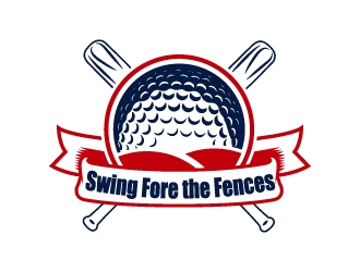 Swing Fore the Fences logo design concepts #7