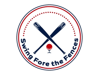 Swing Fore the Fences logo design concepts #8