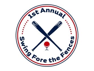 Swing Fore the Fences logo design concepts #9