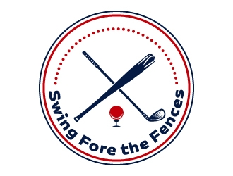 Swing Fore the Fences logo design concepts #11