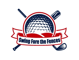 Swing Fore the Fences logo design concepts #12