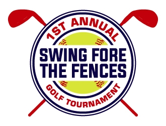 Swing Fore the Fences logo design concepts #13