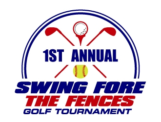 Swing Fore the Fences logo design concepts #14