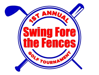 Swing Fore the Fences logo design concepts #15