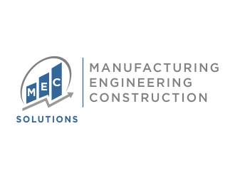 MEC (Manufacturing Engineering Construction)   SOLUTIONS logo design concepts #1