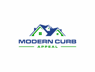 Modern Curb Appeal logo design concepts #3