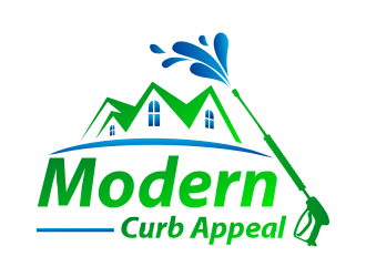 Modern Curb Appeal logo design concepts #6